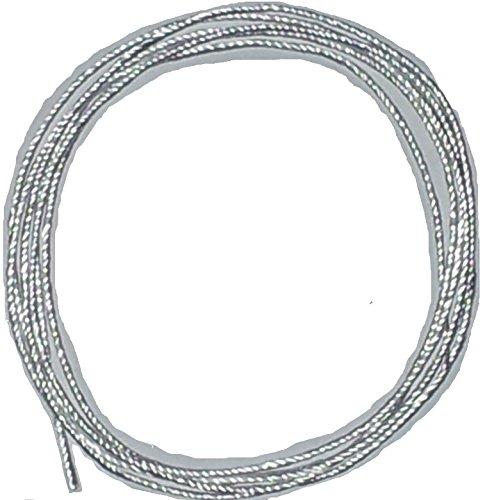 Ø 3mm / Länge: 5 Meter Silikatschnur/Silikatdocht (Grundpreis: EUR 1,60/m) sehr hochwertige und langlebige Faser aufgrund hoher Hitzebeständigkeit weit über 1300°C/Silica rope wick