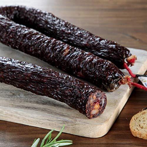 MORCILLA ACHORIZADA es un embutido típico artesano, compuesto de magro de cerdo y grasa de cerdo .