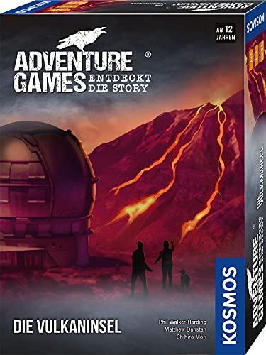 Kosmos 693169 - Adventure Games - Die Vulkaninsel, Entdeckt die Story, Kooperatives Gesellschaftsspiel für 1 bis 4 Spieler ab 12 Jahren, spannendes Abenteuer-Spiel