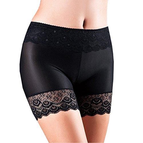LAEMILIA Damen Elasthan Kurze Shorts Leggings Mit Spitze Yoga Hose Shorts Tanzen Sicherheits Hosen
