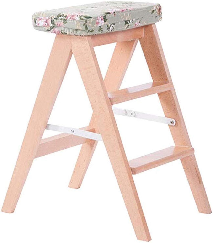 TLTLTD Step Stool, Foldable Step Stool, Small Wooden Wooden