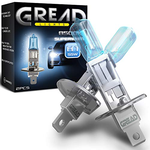 Gread - 2x H1 Halogen Birne Xenon Optik - superweiss - 8500k 55W - E-Prüfzeichen
