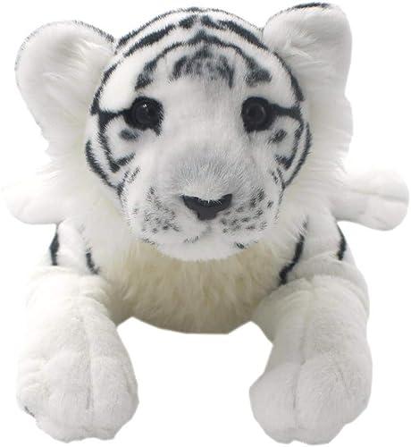 MINICARS Weißes Tigerjunges, das realistisches Weißhes Spielzeug sitzt (45 cm)