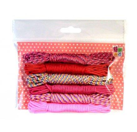 Pw International - Kit di corde colorate per attività creative, 6 x 3 metri