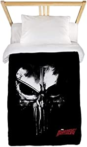 CafePress Netflix Punisher Skull Twin Duvet Twin Duvet Cover, Printed Comforter Cover, Unique Bedding, Microfiber