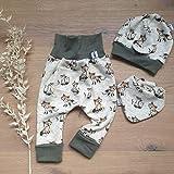 ANGEBOT Set - Hose, Mütze, Halstuch - Kuschelfuchs (Khaki Melange) Baby Jungen Mädchen