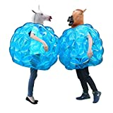 Theefun  Sumo Bumper Balls, Inflatable Body Bubble Ball Bumper Bopper for Kids and Adults 36' - 2 Balls (Blue)