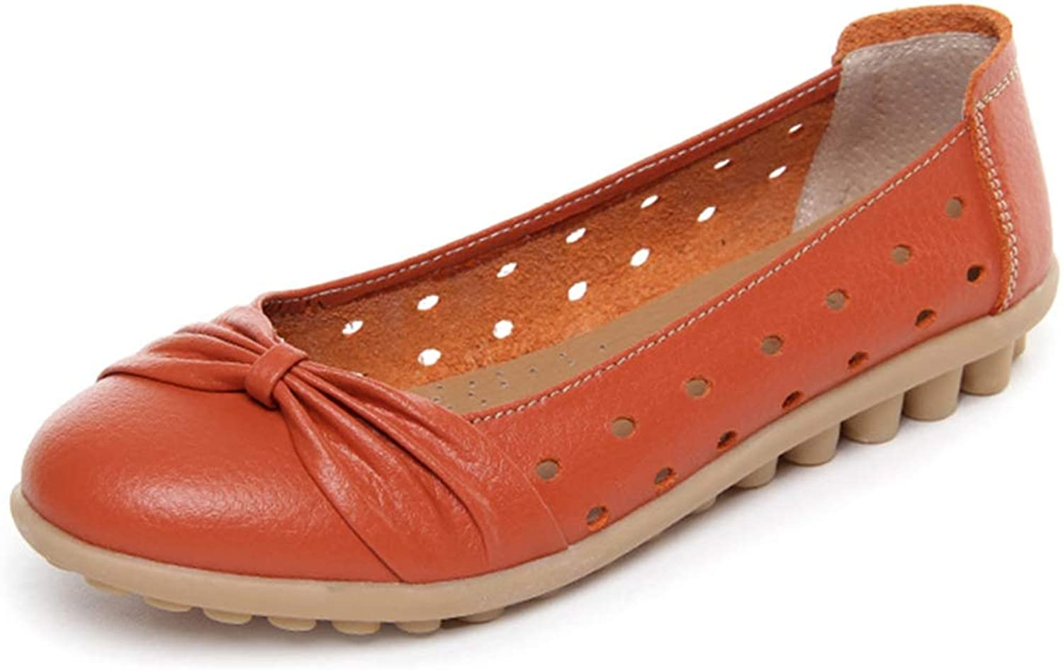 Women Ballet Flats Genuine Leather Loafers shoes Slip On Flat Heel shoes
