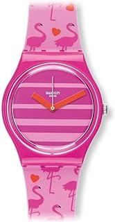 Swatch Women's GP144 Miami Peach Year-Round Analog Quartz Pink Watch