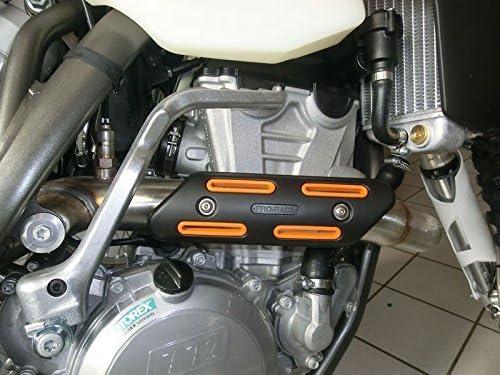 Prorace Universal Krümmerschutz Hitzeschutz Rot Für 4 Takter Auto
