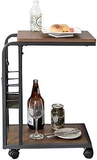 LULUDP Scatola di archiviazione Wireless tavoli mobili in Tutto Il Divano del Soggiorno tavolino a Forma di C tavolino con...