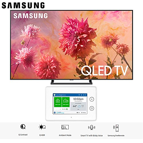 Samsung QN75Q9FNA QN75Q9 QN75Q9F 75Q9 75' QLED Smart 4K UHD TV (2018 Model) with SmartThings ADT Home Security Starter Kit - (F-ADT-STR-KT-1)