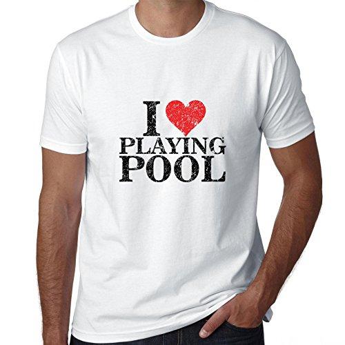 ik hou van spelen zwembad - klassieke biljart mannen T-Shirt