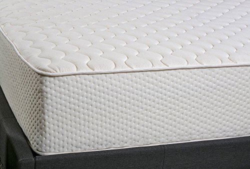 Latex for Less 9 inch Queen Natural Latex Mattress   2 Sided Mattress w/Organic Cotton & Pure Natural Wool