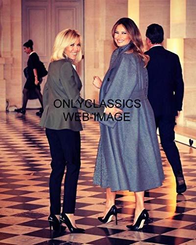 OnlyClassics メラニア トランプとブリゲットマクロン フランス 8X10 写真 ベルサイユ