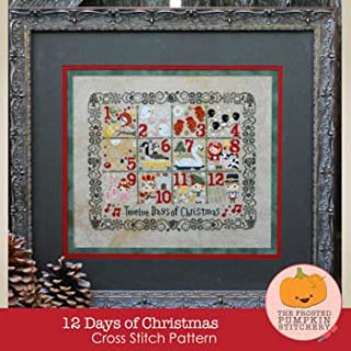 12 Days of Christmas Cross Stitch Chart and Free Christmas Embellishment