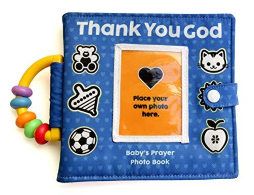 Personalized Prayer Photo Book Album for Newborn, Infant, Baby, Toddler, Godchild, boy or Girl for a Birthday, Baptism, Christening or Dedication