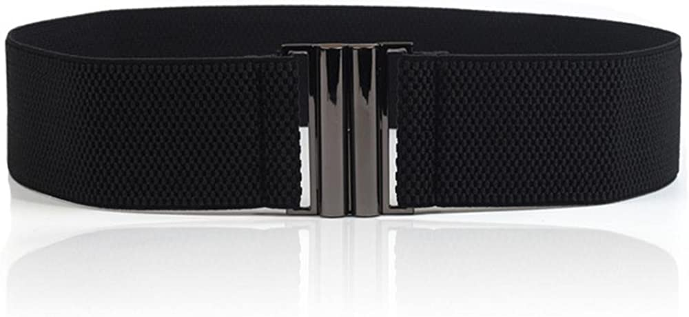 Women's Simple Black Elastic Stretch Waist Belt for quality assurance Dress Spring new work one after another Wide