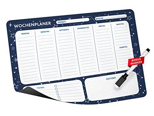 Notta&Belle FEEL LOVE EVERY MINUTE Calendario Magnetico (Planificador semanal - Azul)