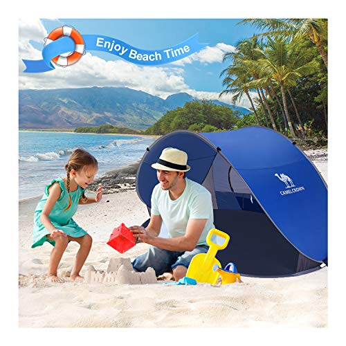 CAMEL CROWN Beach Tent 2-3 Person UV Protection Tent – Easy Setup,Spacious Tent for Indoor Outdoor Picnics, Camping, Hiking