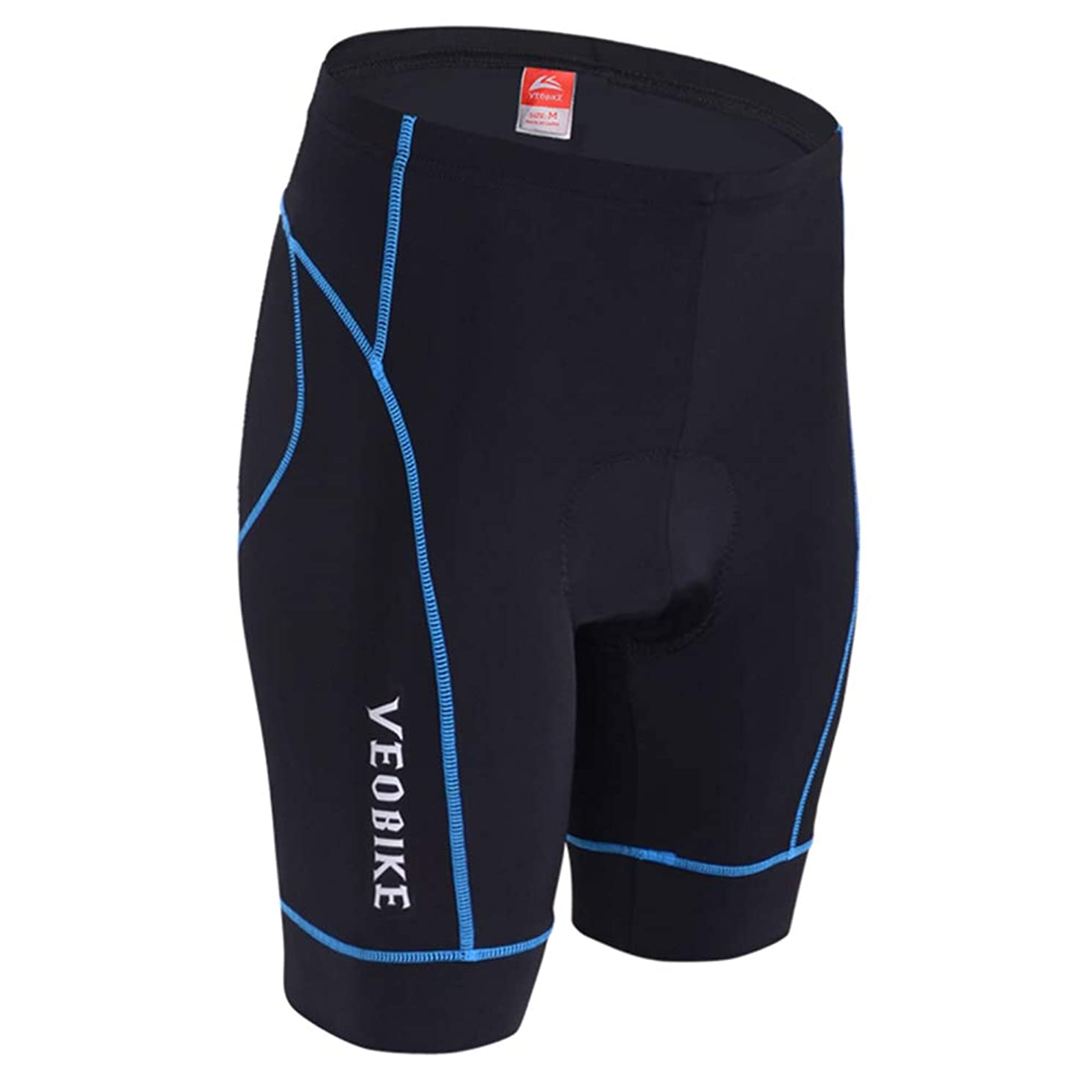 Cycling Shorts Men's and Cycling Underwear with High-Density High-Elasticity and Highly Breathable 4D Sponge Padded,M