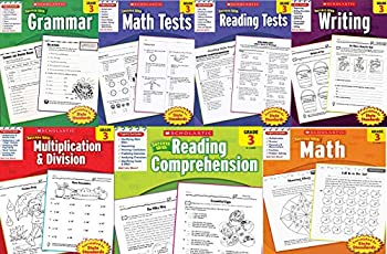 Scholastic Success With - Grade 3 Complete Set  7 books   Multiplication&Division 3 Math 3 Math Tests 3 Grammar 3 Reading Comprehension 3 Reading Tests 3 and Writing 3