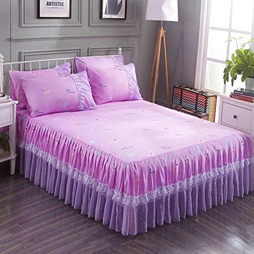 Liyingying Falda de Encaje Falda de Dibujos Animados, Familia y la Novia, la Mejor Ropa de Cama para Decorar el Dormitorio-4_180cmx220cm