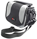 DURAGADGET Black & Grey Carry Case w/Padded Interior & Shoulder Strap - Compatible with Omron Blood Pressure Monitor - M3 HEM-7131-E | OM-M2 & M2
