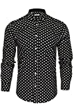 Xact - Camisa de manga larga para hombre, diseño de lunares