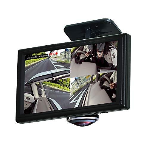 PIXYDA(ピクシーダ)360度ドライブレコーダーPDR650SV全方位カメラ5インチタッチパネルモニタ専用microSD(32GB)付GPS12/24V車対応SEIWA