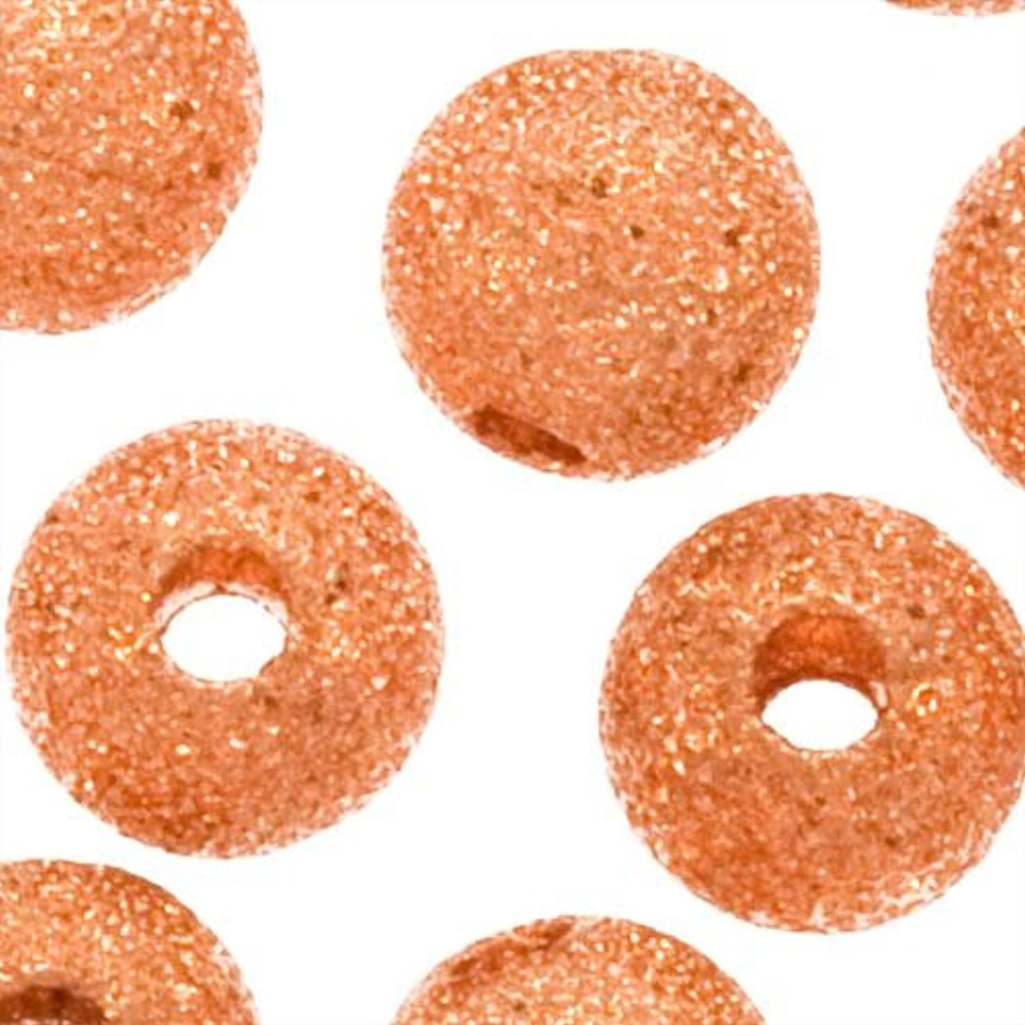 Copper Plated Stardust Sparkle Round Beads 6mm (50)