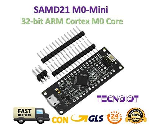 TECNOIOT Samd 21 m0-Mini 32-bit ARM Cortex m0 core Compatible with Arduino Zero m0