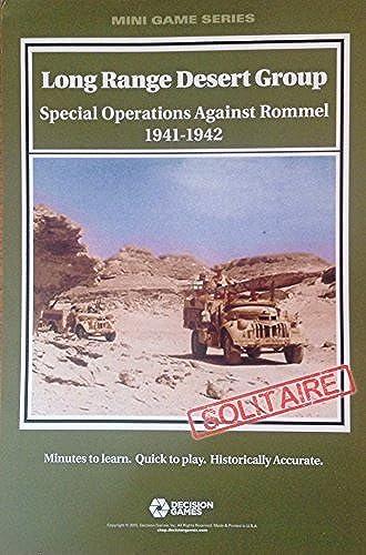 DG  Long Range Desert Group, Special Operations Against Rommel 1941-1942, Board Game by DG Decision Games