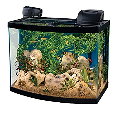 Tetra Connect Curved Aquarium Kit 28 Gallon, with Wi-Fi Feeder and Lighting, Multi
