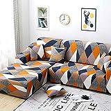 Copridivano con Penisola Elasticizzato Chaise Longue antimacchia Sofa Cover componibile in Poliestere a Forma di L (Color : Color 10, Size : AA/BB-3 Seat(190-230CM))