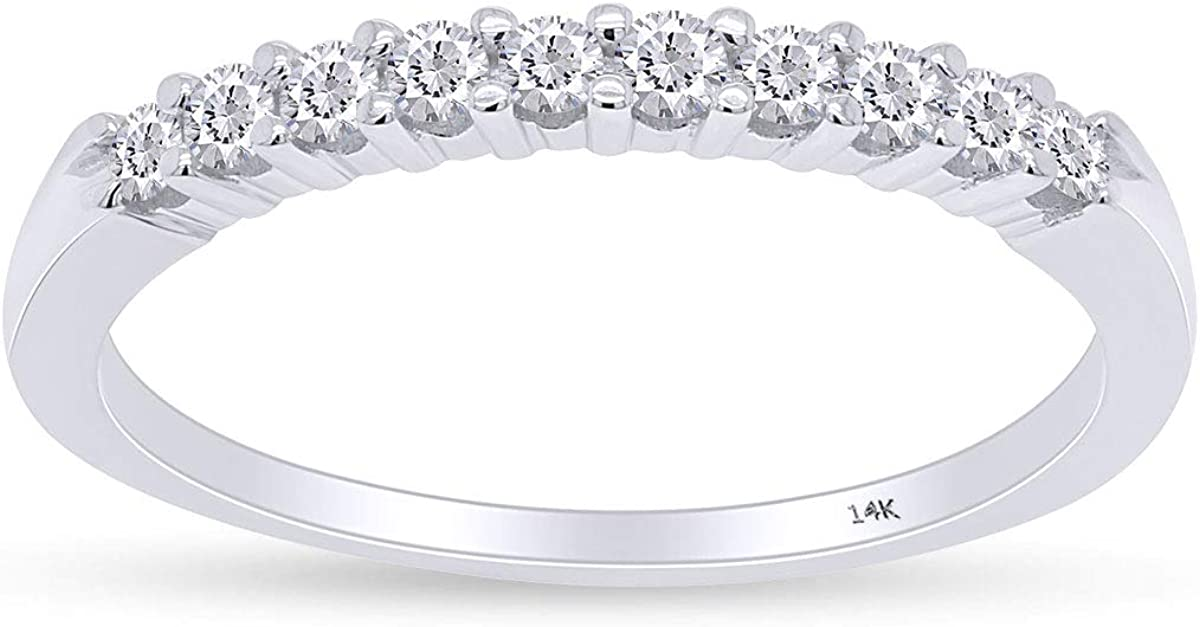 1 4 cttw Diamond Finally popular brand Wedding Band 14K or Gold Rose S White 10 Yellow 67% OFF of fixed price