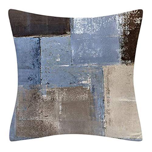 Caja de Almohada de Tiro Abstracto Pintura geométrica contemporánea sofá cojín cojín leilims (Color : 13)