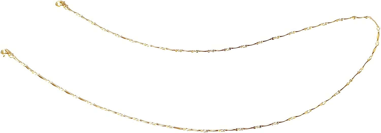 ROSTIVO Mask Chain for Women Men Boys and Girls Cute Mask Lanyard (Gold)