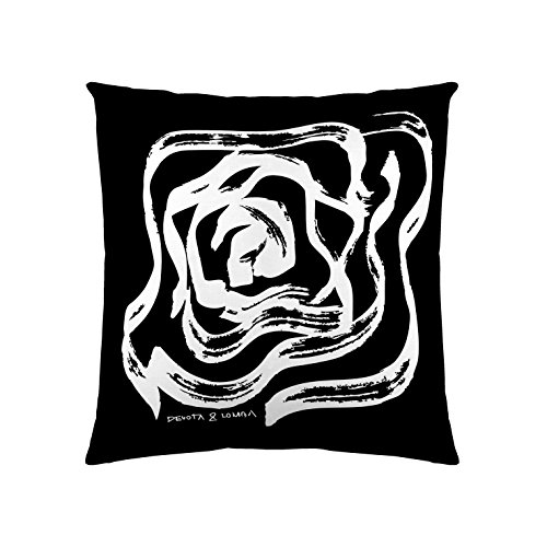 Devota & Lomba Rosas Funda de cojín, Algodón, Multicolor, 60x60x0.1 cm