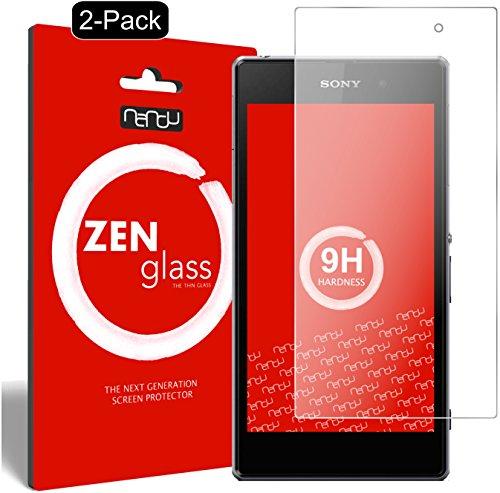 ZenGlass [2 Stück Flexible Glas-Folie kompatibel mit Sony Xperia Z1 Compact Panzerfolie I Bildschirm-Schutzfolie 9H