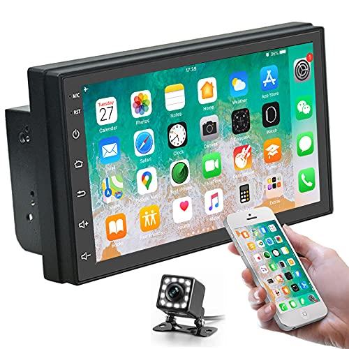 Doppio Din Android Car Stereo Touchscreen da 7 pollici Autoradio Bluetooth con navigazione GPS e telecamera di backup