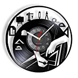XYVXJ Vinilo LP Disco Reloj de Pared Equipo arquitectónico...
