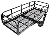 "Merax Trailer Hitch Cargo Carrier Folding Mount Basket Luggage Rack Bumper, 360 lbs. Capacity, 60"" X 24' X 14.4"", Fits 2' Receiver"