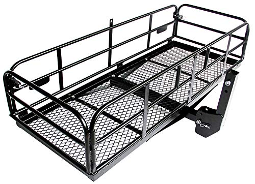 "Merax Trailer Hitch Cargo Carrier Folding Mount Basket Luggage Rack Bumper, 360 lbs. Capacity, 60"" X 24"" X 14.4"", Fits 2"" Receiver"