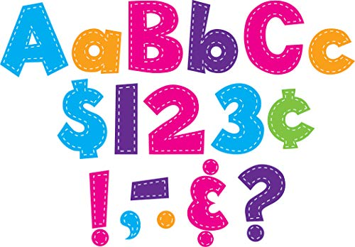 Teacher Created Resources Multi Bright Stitch Fun Font 4-Inch Letters (77177)