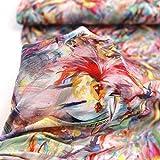 TOLKO 50cm Designer Baumwoll-Jersey für Shirt Kleid Rock |