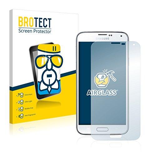 brotect Pellicola Protettiva Vetro Compatibile con Samsung Galaxy S5 Plus Schermo Protezione, Estrema Durezza 9H, Anti-Impronte, AirGlass