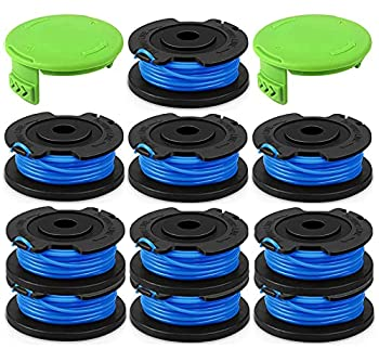 KAKO 0.065  Line TrimmerString Spool Replacement Auto-Feed Trimmer Spool 29092 for Greenworks Weed Eater String Trimmer 24V 40V 80v Cordless Trimmer  10 Spools+2Cap