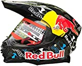 STRTG Casco De Motocross Regalo Deportivo para Hombres Certificado Dot/ECE Red Bull Casco Deportivo Todoterreno Integral Clásico Mujer Hombre A,XL (61~62cm)
