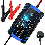Car Battery Charger, 12V 24V Battery Charger & Maintainer, 3-Stage Automatic Trickle Battery